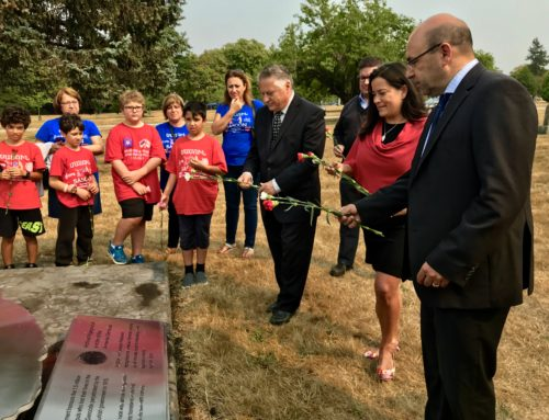 Minister of Justice and Attorney General of Canada Pays Respect to Genocide Victims at Armenian Genocide Monument in Vancouver
