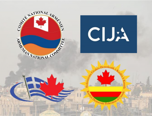 ANCC, CIJA, DKFC and CHC Issue Joint Statement Condemning Turkey's Ongoing Offensive in Northern Syria