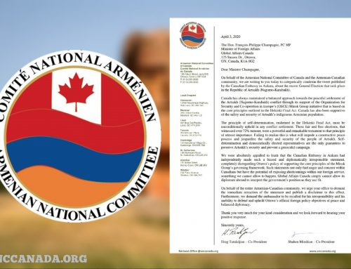 ANCC Demands Retraction of Tweet Made by Canadian Embassy on Artsakh Elections and for the Ambassador to be Recalled